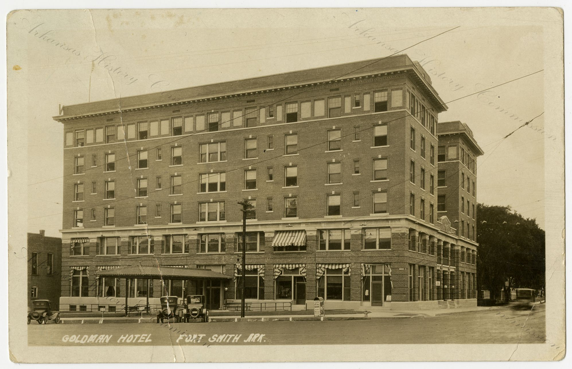 The Goldman Hotel In Fort Smith In 1925 G2972 This Postcard Was