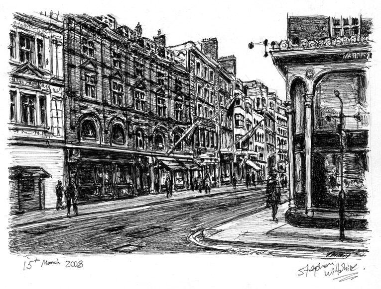 Old bond street london drawings and paintings by stephen wiltshire mbe · pencil sketchingpencil drawingsart