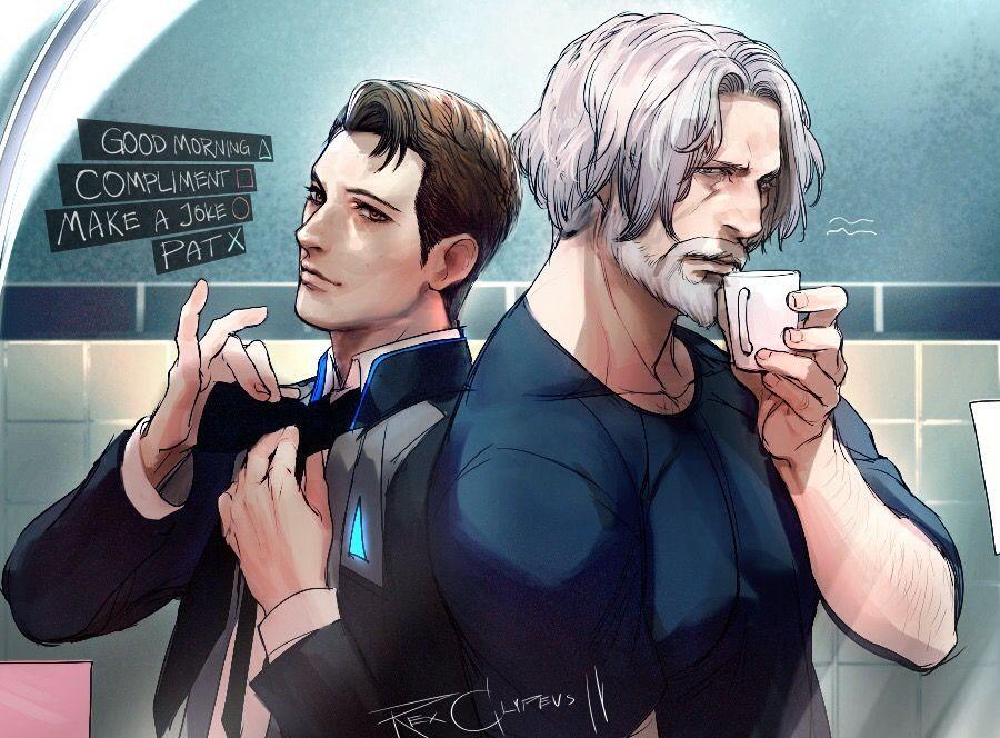 Detroit become human Connor and Hank By: rex-clypeus | Detroit