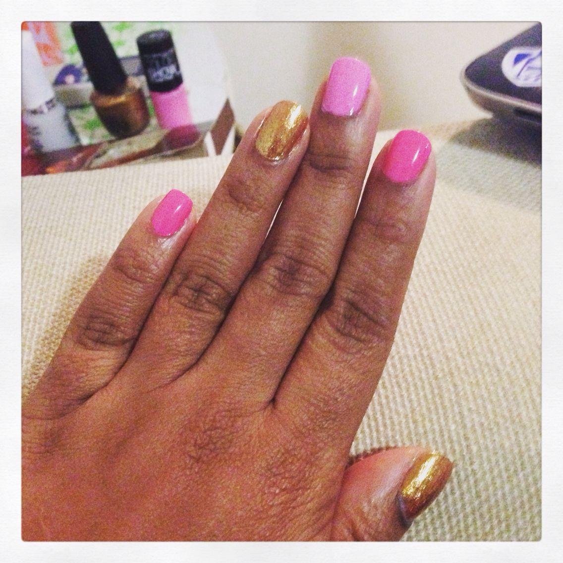 Fancy pink. Fun nails!