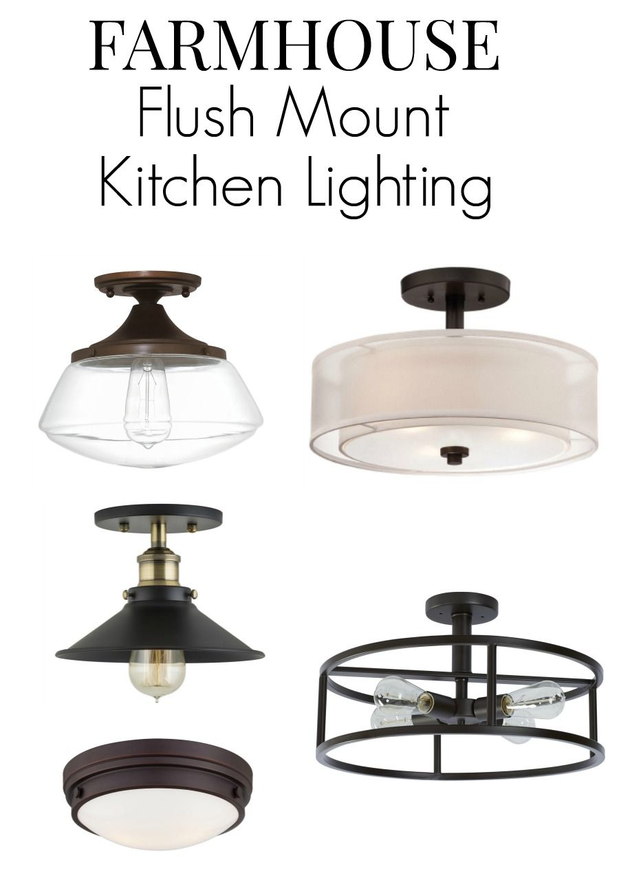 No Room For Pendant Lighting In Your Small Kitchen Here Are 8 Flush Mount Fixture Ideas That Will Add Farmhouse Style To E