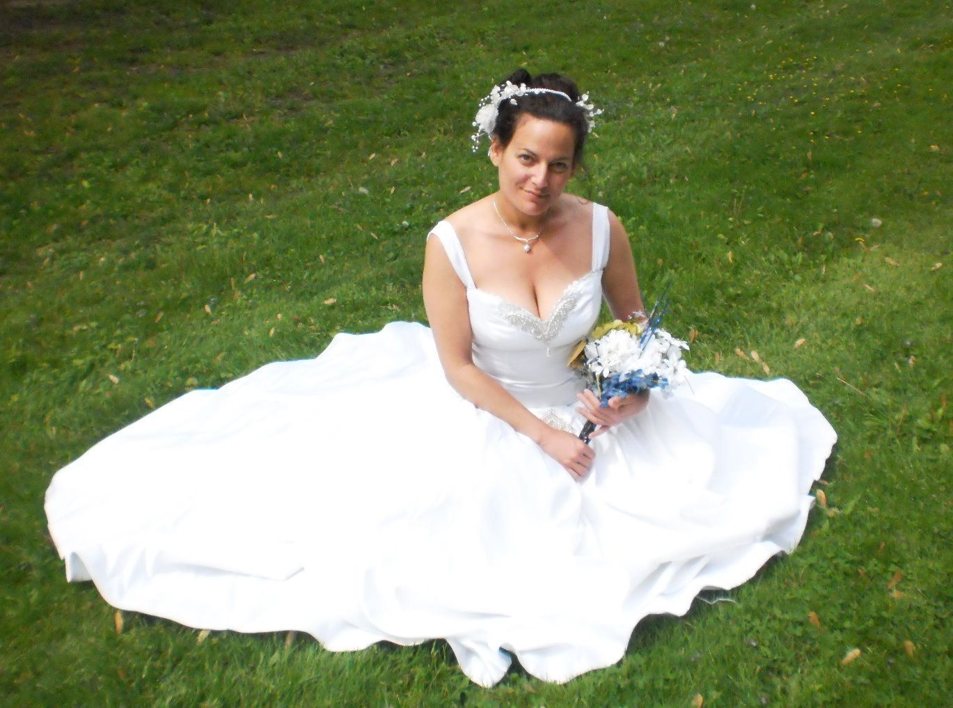 Green and white wedding dress  White Wedding Dress Ball Gown with Train and Corset by Shivati  The