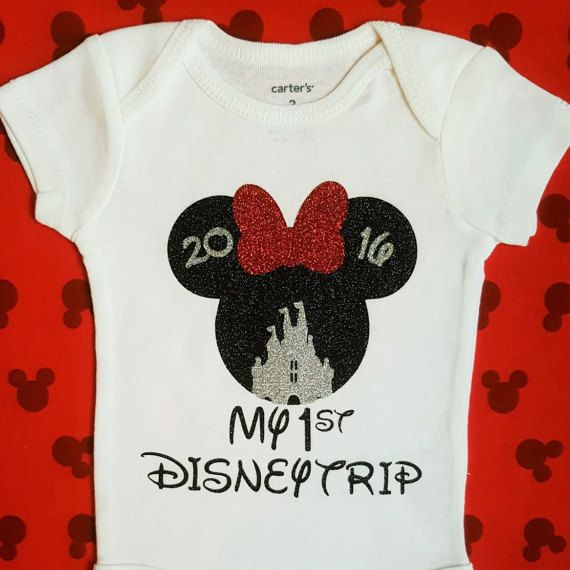 78bb2677385aa My First Disney Trip Vacation 2019 | Personalized Minnie Mouse Shirt ...