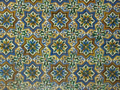 Moorish Mosaic Azulejos Ceramic Tiles Casa De Pilatos Palace Sevilla Spain
