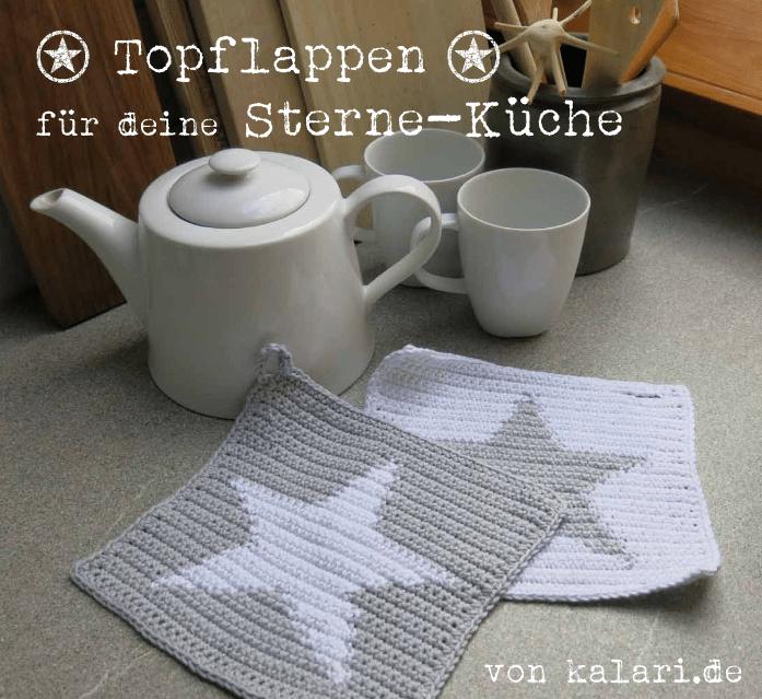 Photo of Häkelanleitung für Topflappen mit Stern, kostenlos