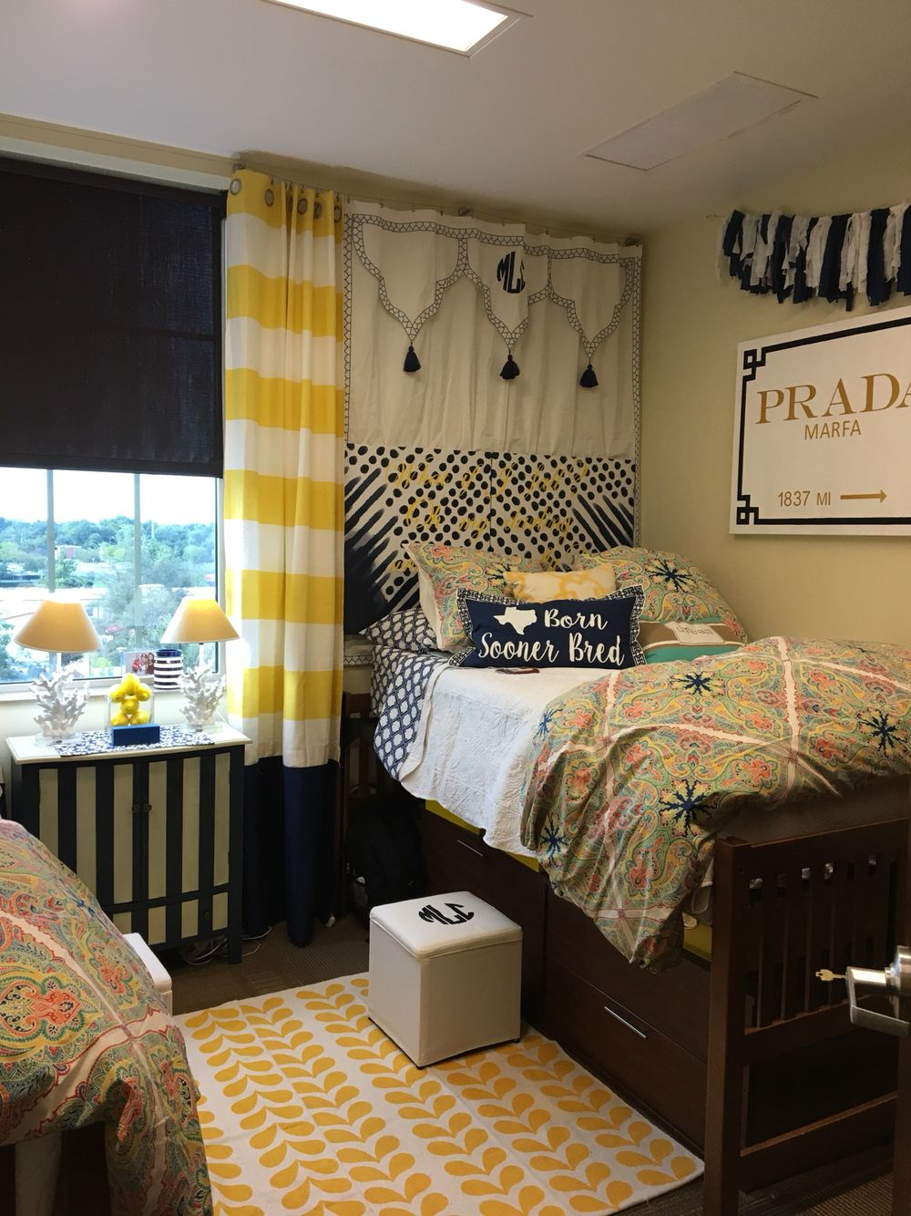 Dorm Room Headboards: Carsons Dorm Room With Painted Canvas, Silhouette