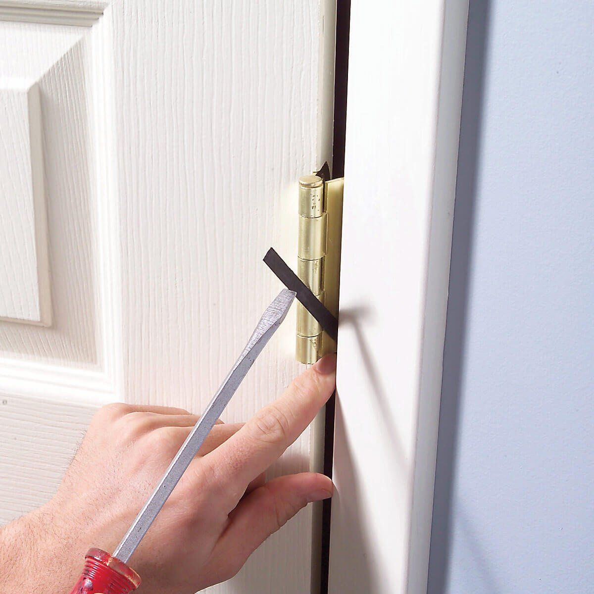 How To Shim Gapping Doors Diy Home Repair Home Improvement Projects Home Repairs