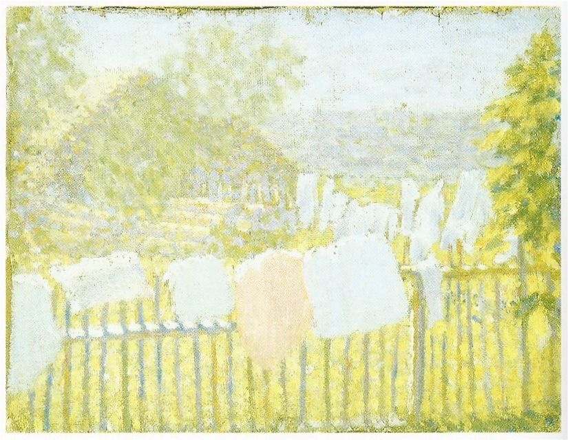 Kasimir Malevich Séchage du linge / Drying of the linen Huile sur toile / Oil on canvas 21.2 x 27.7 cm 1902 - 1903