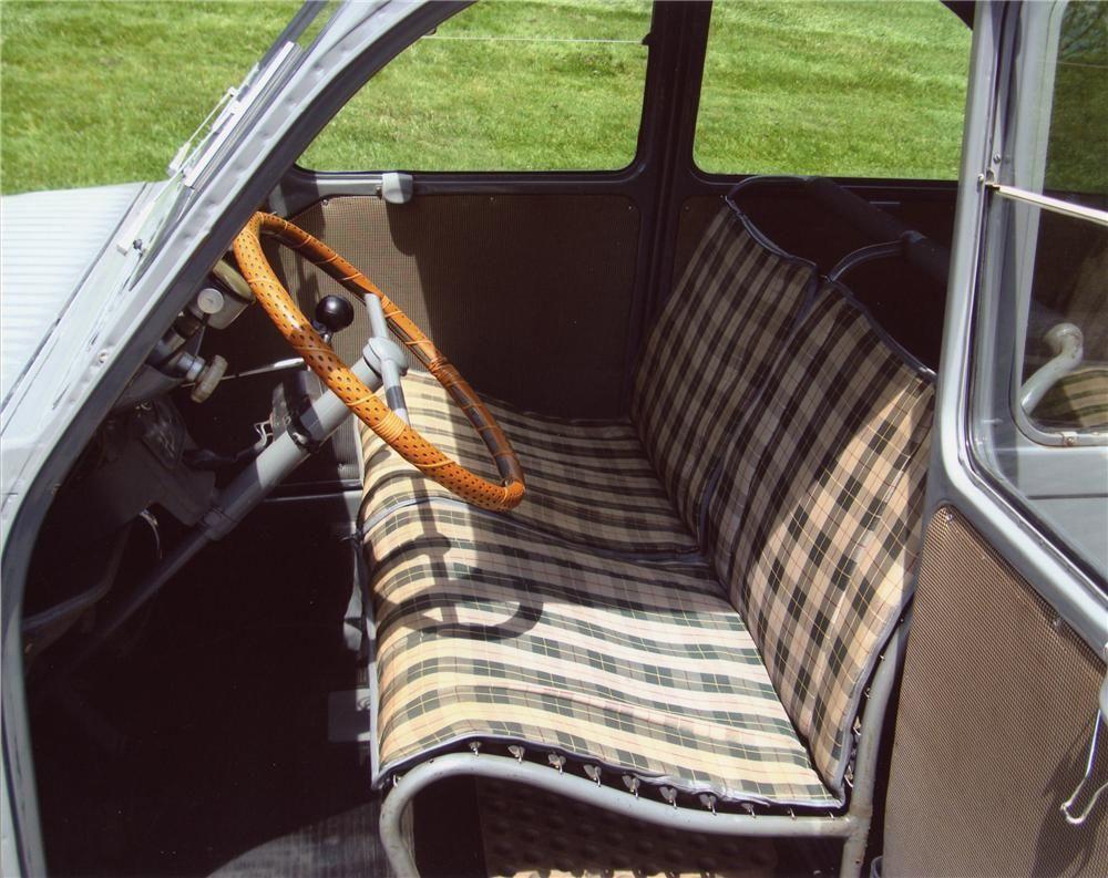 citroen 2cv interior pictures