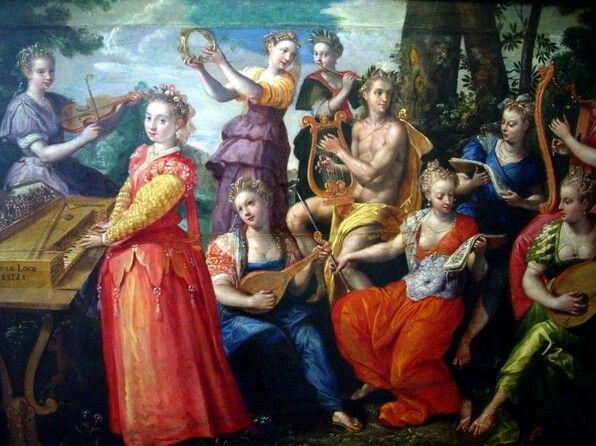 Apollon et les muses, Maerten de Vos Détail (mit Bildern)