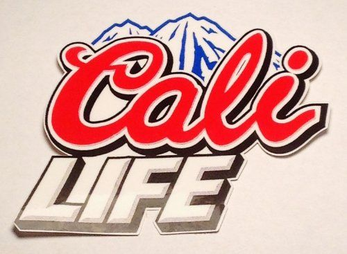Cali Life Vinyl Decal Sticker No White Background 3 X 3 Inches