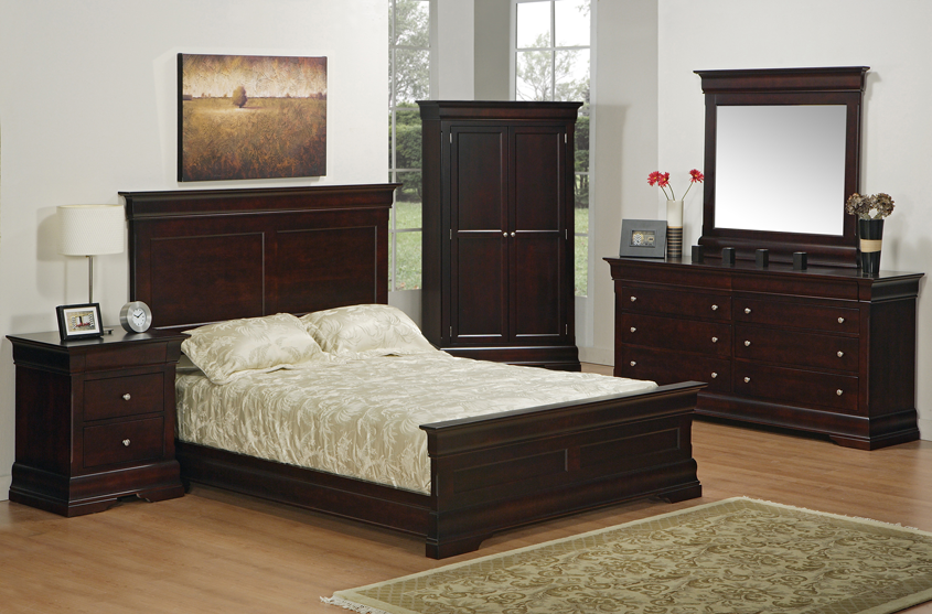 NEWTON Canadian Made Solid Wood Phillipe Bedroom Pecan | Furniture ...