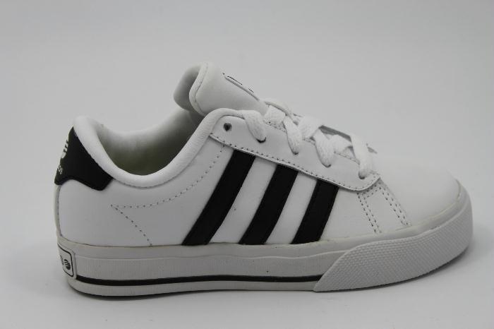 Gave Adidas sneaker in het wit leer met zwarte strepen (met ...