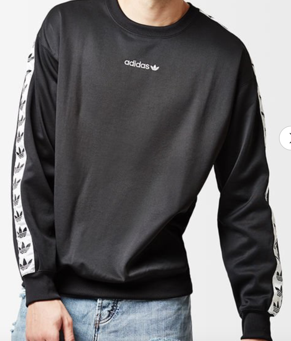 Adidas Tnt Tape Crew Neck Sweatshirt Size S Crew Neck Sweatshirt Sweatshirts Crew Neck [ 1106 x 942 Pixel ]