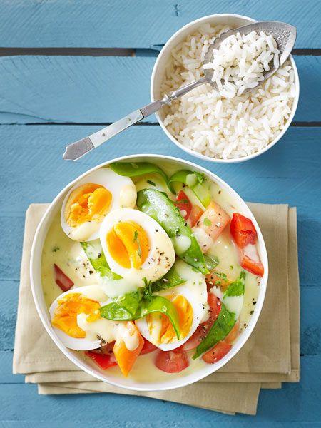 Super Curry-Eier-Ragout | Rezept | Vegetarisch | Rezepte, Ragout rezept #QR_11
