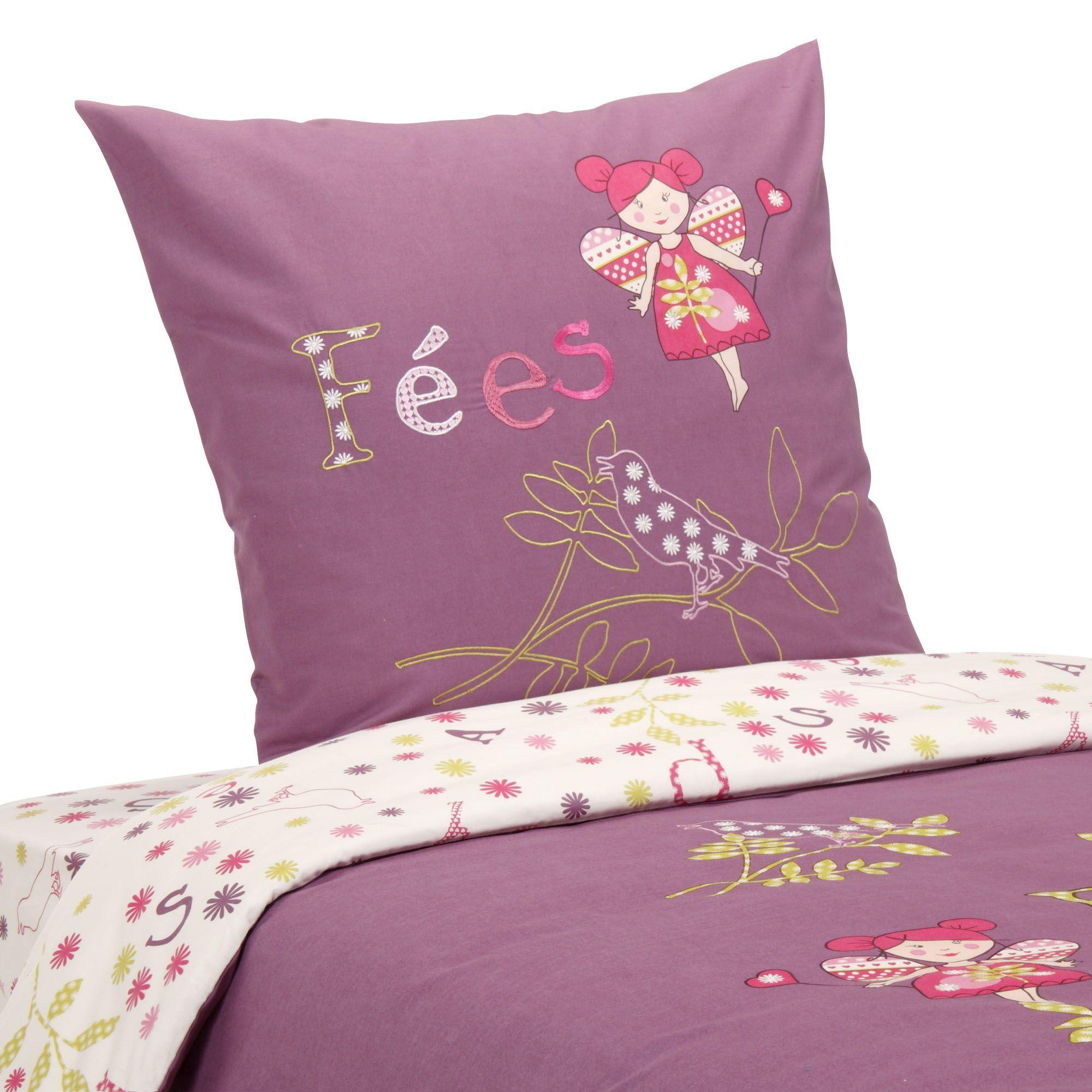 parure de couette enfant 1 place pays des f es le linge de lit enfant alinea enfants. Black Bedroom Furniture Sets. Home Design Ideas
