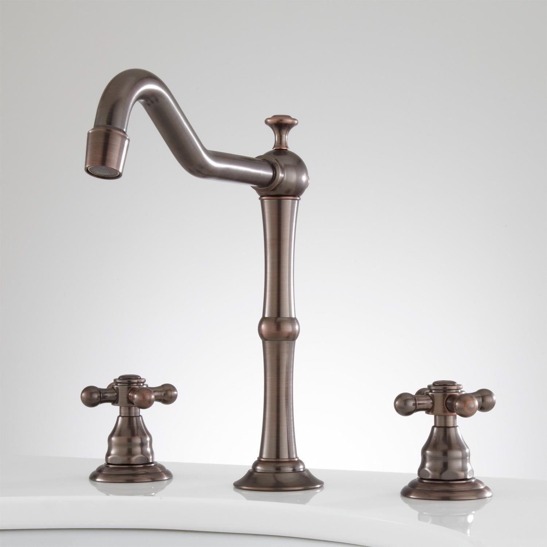 Mabel Widespread Bathroom Faucet - Cross Handles - No Overflow - Oil ...