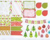 Christmas Sampler Theme 1 Weekend Planner Sticker for Erin Condren Life Planner (ECLP) Reminder Sticker 1809