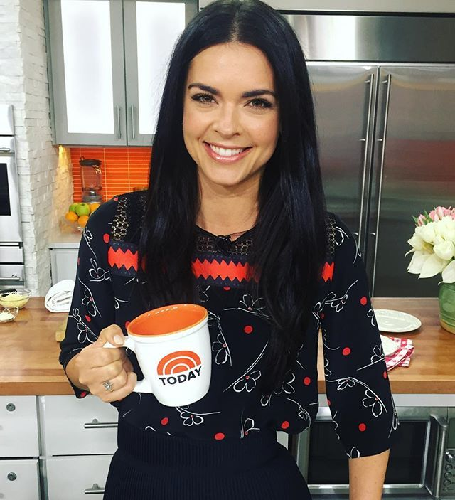 Having fun this am @todayshow! First up Penne Pie at 8:40 and a Skillet Paella at 10. @todayfood @foodnetwork (glam ❤️ @julietussey @naokosuzuki )