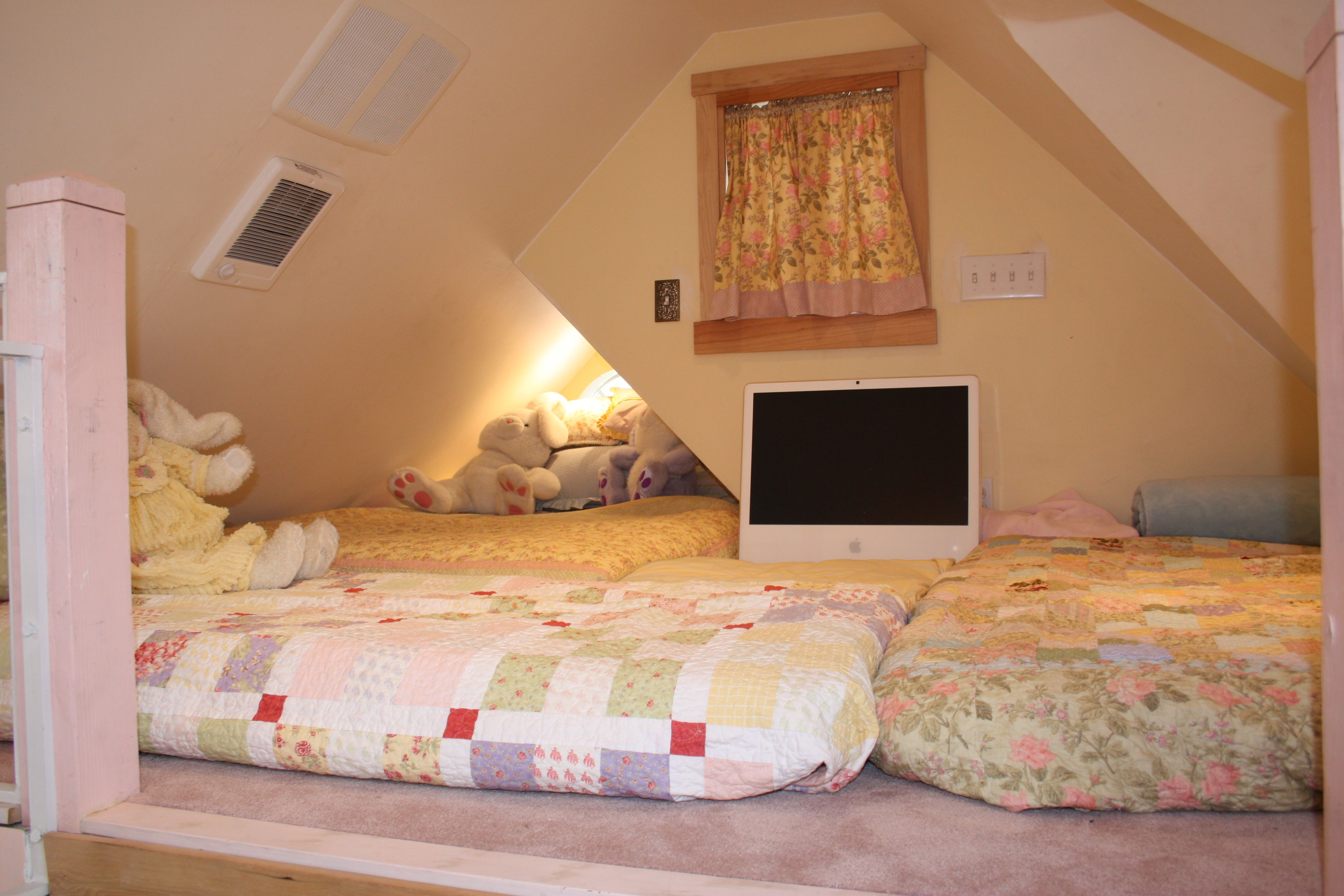 Full Size Mattress Bed In Smaller 2nd Dormer And The Twin Mattress