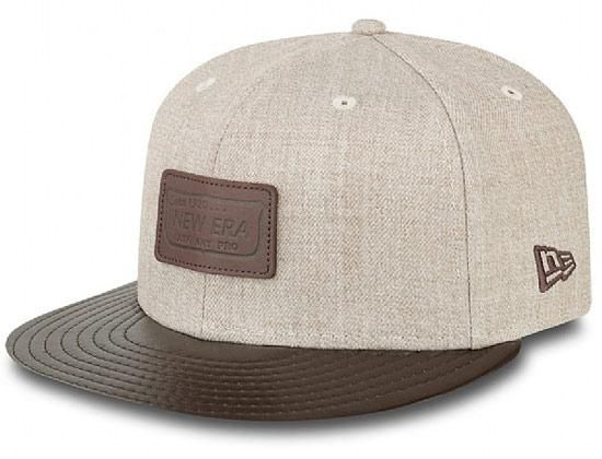 Heather Leather Patch 59Fifty Fitted Cap by NEW ERA  ea612cefd45