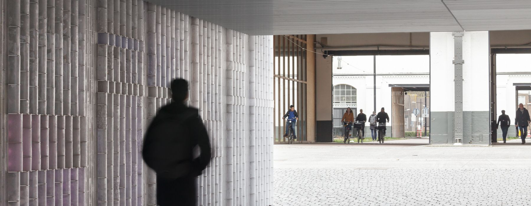 civic architects + BRIGHT revive railway underpass in tilburg, the netherlands