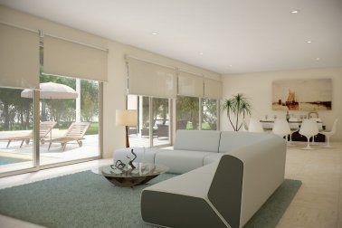 Modelo f villa rodeada de terrazas de dise o moderno de for Diseno de habitacion con bano privado