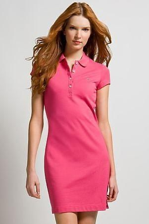 f9545fc66be3 POLO RALPH LAUREN Pink Cotton Pique Polo Shirt Dress (retail £140) | eBay