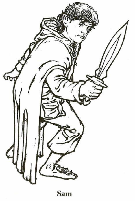 coloring page Lord of the Rings - Lord of the Rings | Hobbits ...