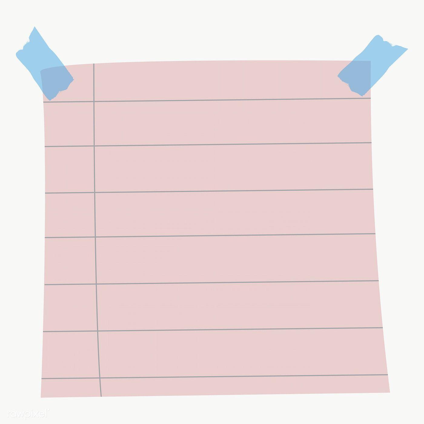 Blank Lined Notepaper Set With Sticky Tape On Transparent Premium Image By Rawpixel Portada De Cuaderno De Ciencias Fondos Para Blog Caratulas Para Carpetas
