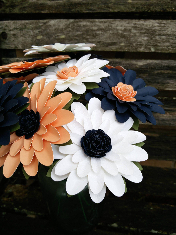 Gerber Daisy Paper Flower Bouquet. You CHOOSE THE COLORS ...