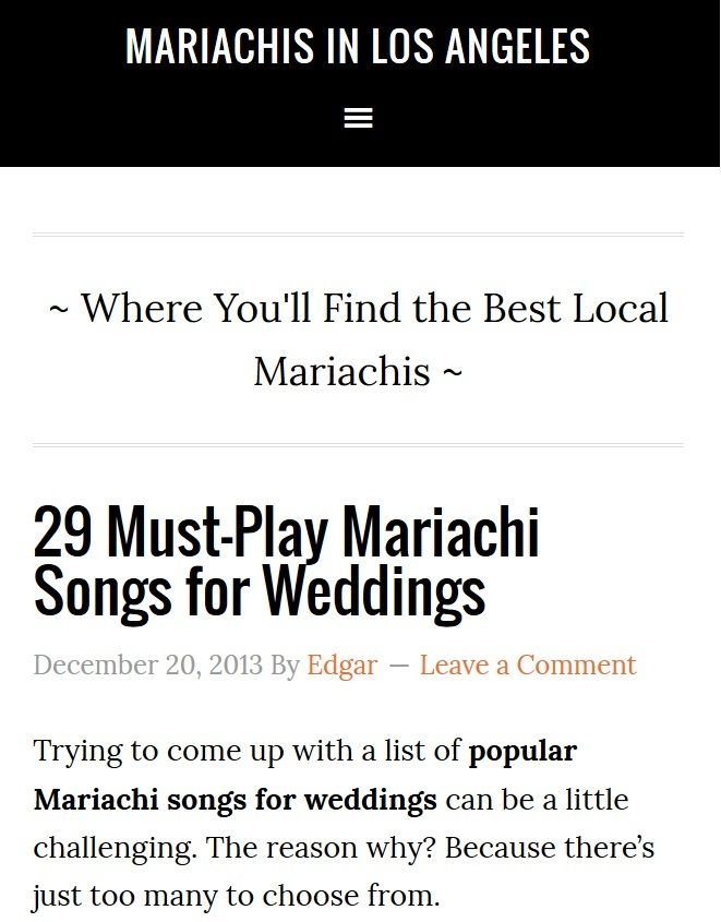 Where Youll Find The Best Local Mariachis 29 Must Play Mariachi Songs For Weddings