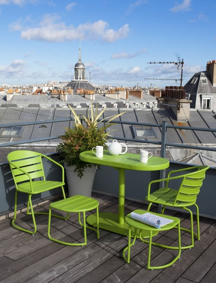 Salon de balcon gain de place chez Truffaut | Terrasses & balcons