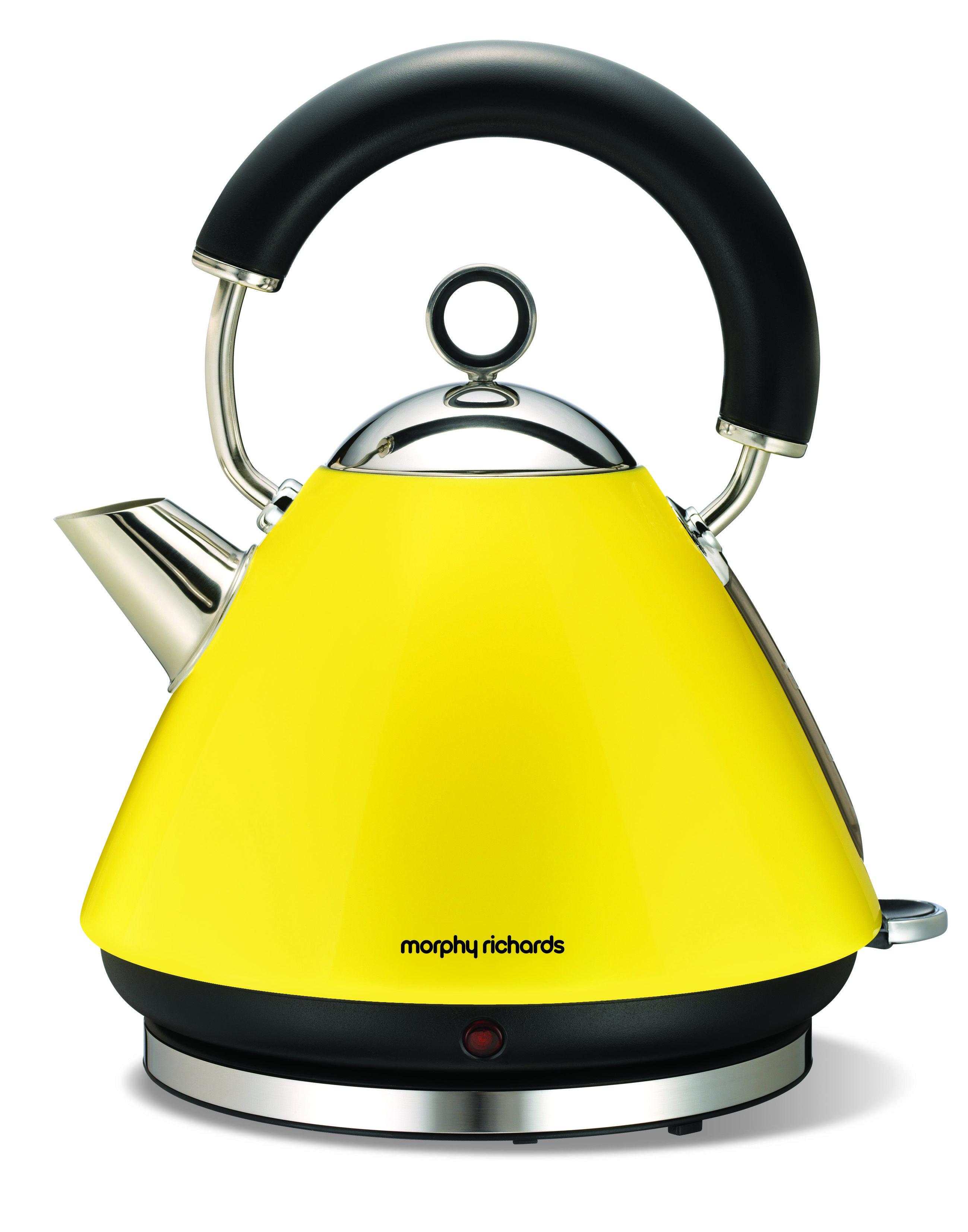 Morphy Richards Lemon Yellow Kettle Yellow Traditional Kettles Kettle Yellow Toaster