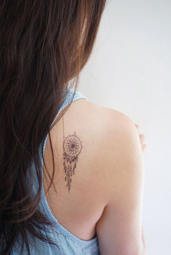 Pink Tattoo Purple Tattoo Moon Dreamcatcher Tattoo Long Lasting