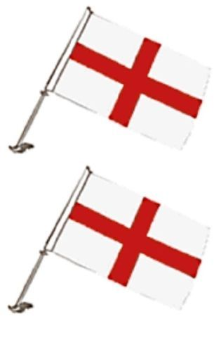 Details About Job Lot Of 10 England Football Car Flags St George Cross Free Uk P P In 2020 England Football George Cross St George S Cross