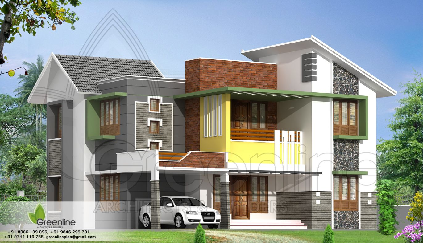 Architecture House Design In Indian 1000-sq-ft-home (1600×914) | residence elevations | pinterest