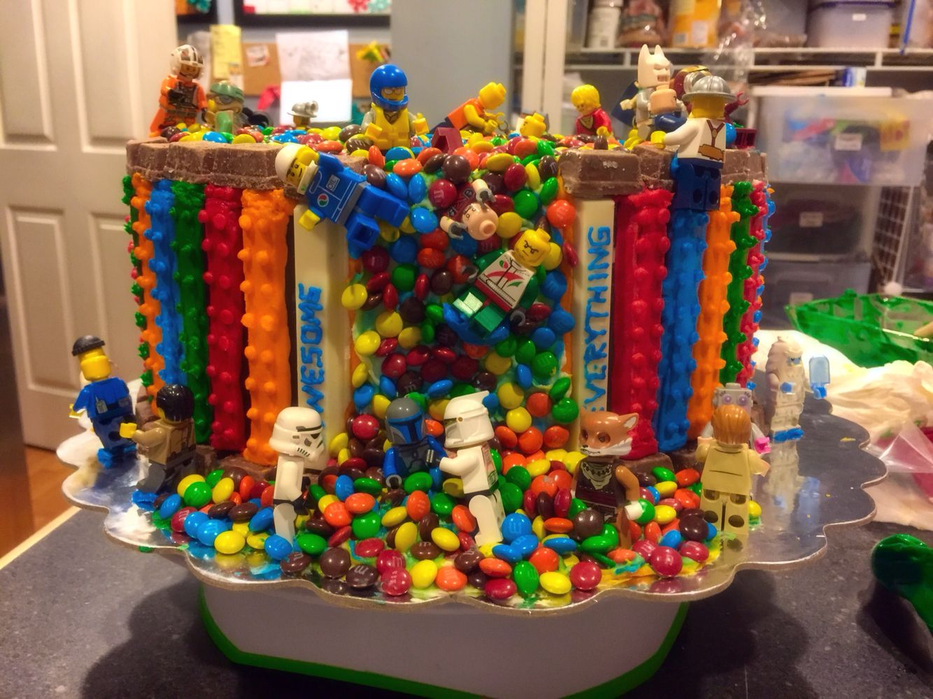 Lego Kit Kat Cake | my Sweet Enchantments | Lego birthday