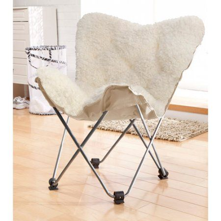 Merveilleux Free Shipping On Orders Over $35. Buy Luxe Faux Fur Butterfly Chair, White  At