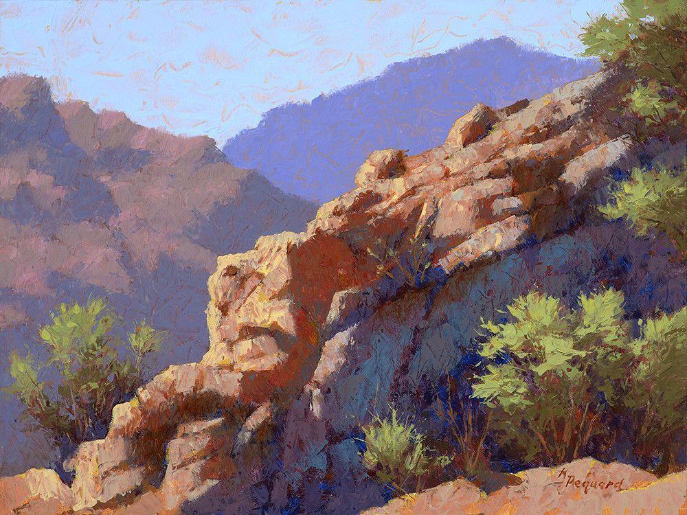 """""""The Precipice"""" a 9x12 by Arizona artist Required"""
