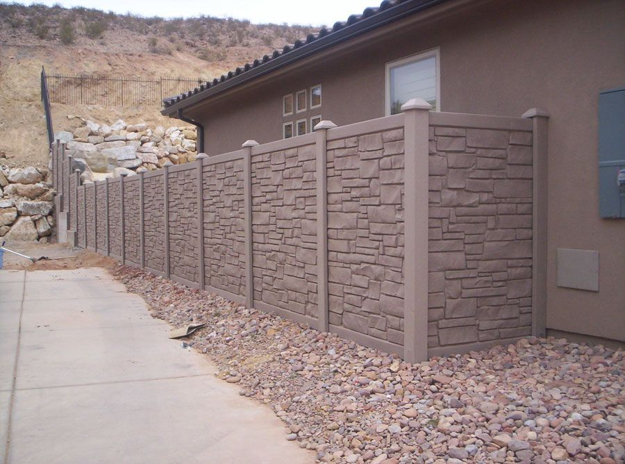 Faux Stone Privacy Fence Fence Sections Fence Yard