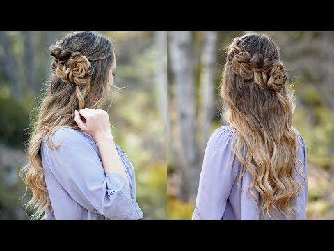 Lace Pull Thru Braid | Rosette Bun | Cute Girls Hairstyles ...