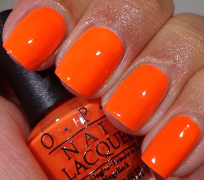 Opi Neon Revolution Minis Neon Orange Nails