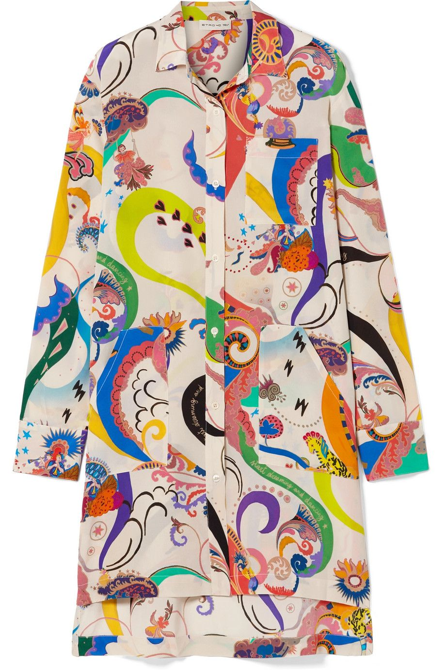 4602d6cab6eff5 Etro - Oversized printed silk crepe de chine shirt in 2019 | Gucci ...
