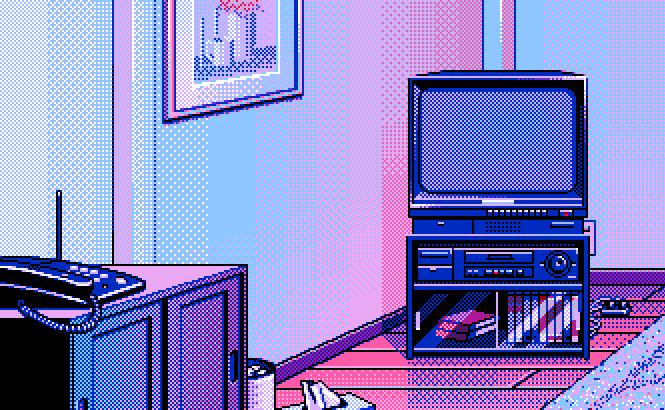 Pixel Art. Pastel Living RoomVector ...