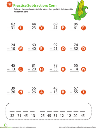 2-Digit Subtraction | Worksheets, Math and School