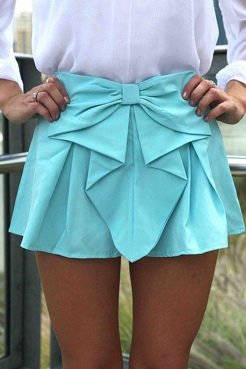 Tiffany Blue Bow skirt