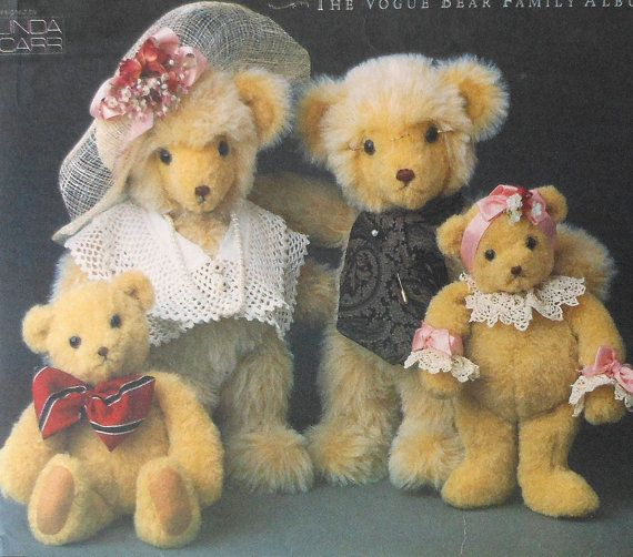 Teddy Bear Family Sewing Pattern UNCUT Vogue 8958 | Sewing patterns ...