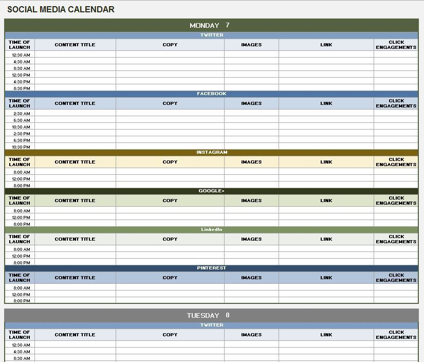 How To Build An Editorial Content Plan For Social Media Social