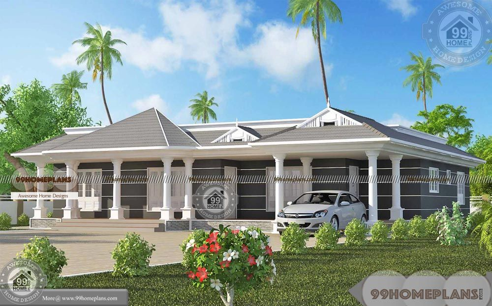 1 Floor House Plans Modern Wide And Spacious Traditional Home Designs Collections Having Around 2 Single Floor House Design House With Porch House Front Design